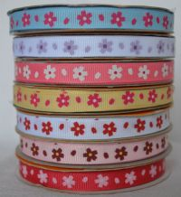 10mm DAISY GROSGRAIN RIBBON